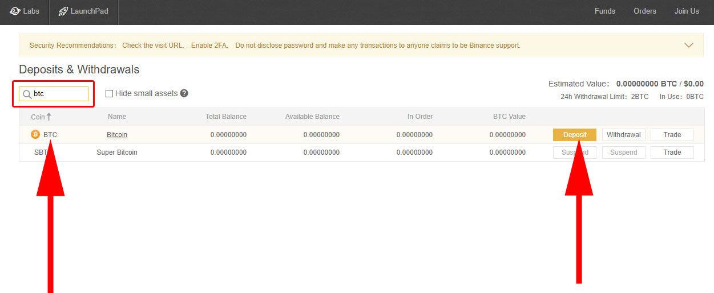 Binance - výber kryptomeny na vloženie
