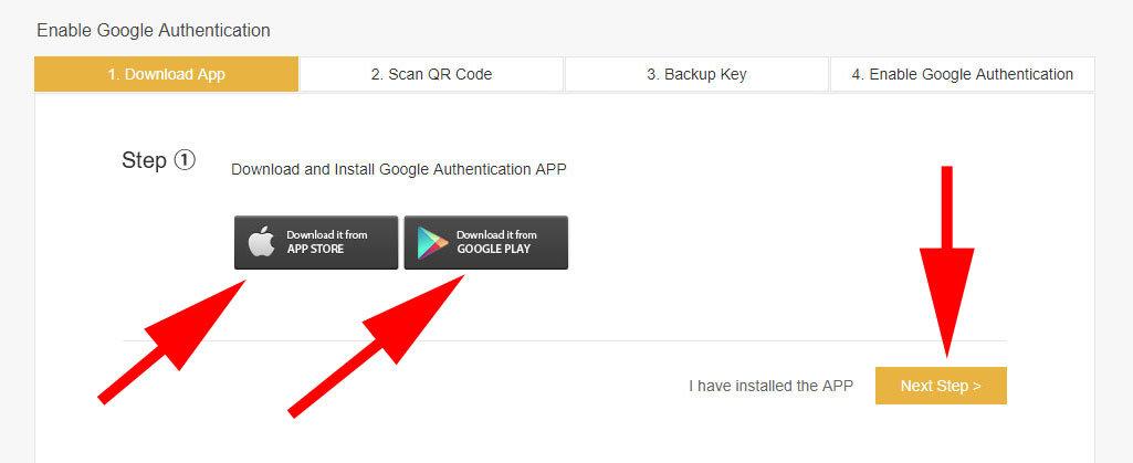 Binance - stiahnutie aplikácie