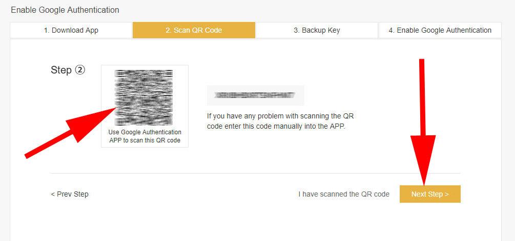 Binance - QR kód