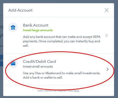 Coinbase - spôsob platby