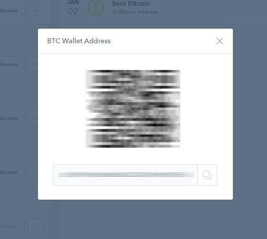 Coinbase - adresa peňaženky