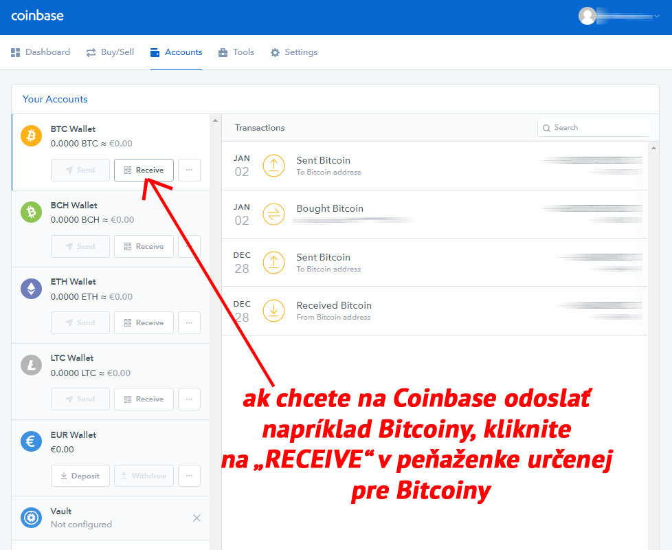 Coinbase - Receive