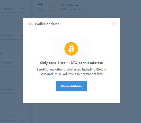Coinbase - upozornenie