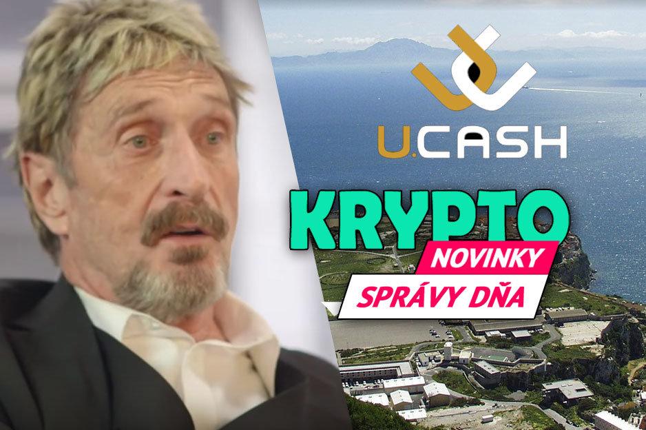 Správy dňa kryptomeny - McAfee, U.CASHSprávy dňa kryptomeny - McAfee, U.CASH
