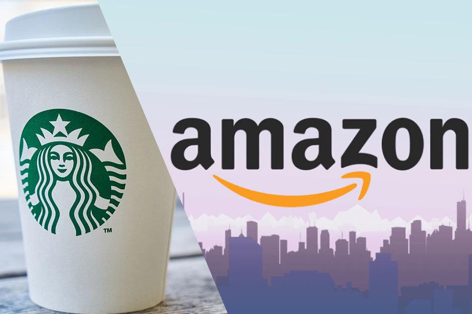 Amazon a Starbucks kryptomeny