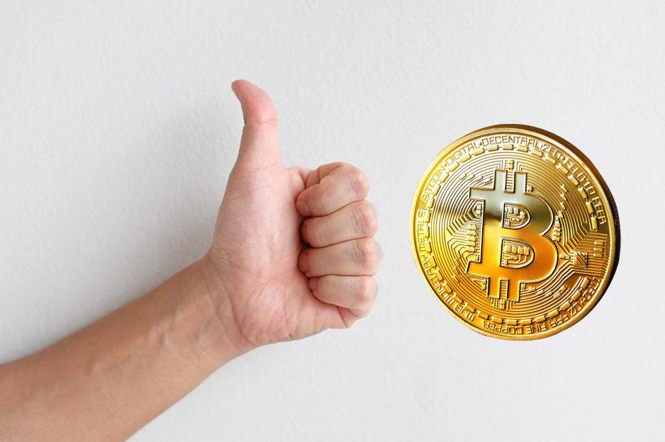 Bitcoin - palec hore