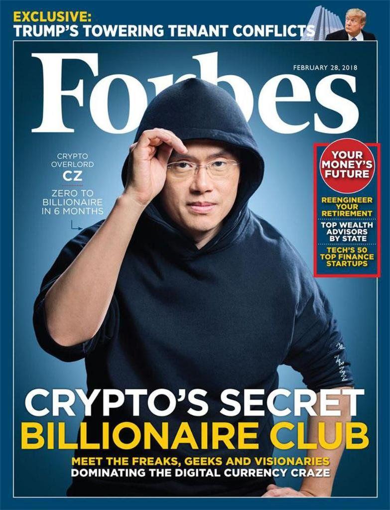 Zakladateľ burzy Binance Changpeng Zhao na titulke Forbes