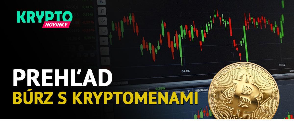 Prehľad búrz s kryptomenami