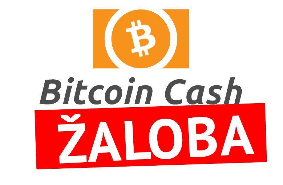 Bitcoin Cash - žaloba