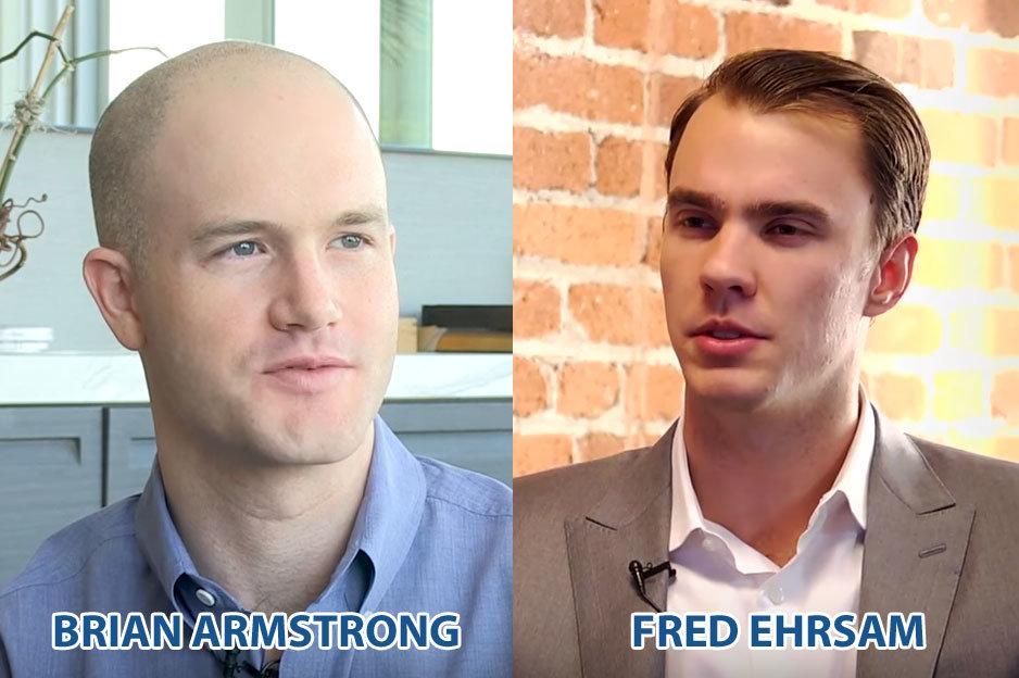 Armstrong - Ehrsam - zakladatelia Coinbase