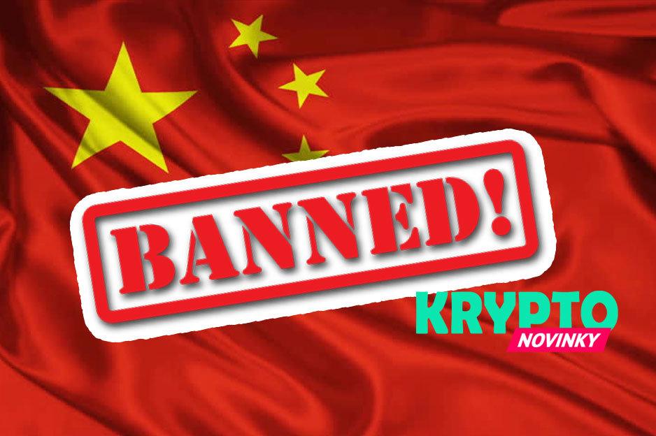 Čína zákaz