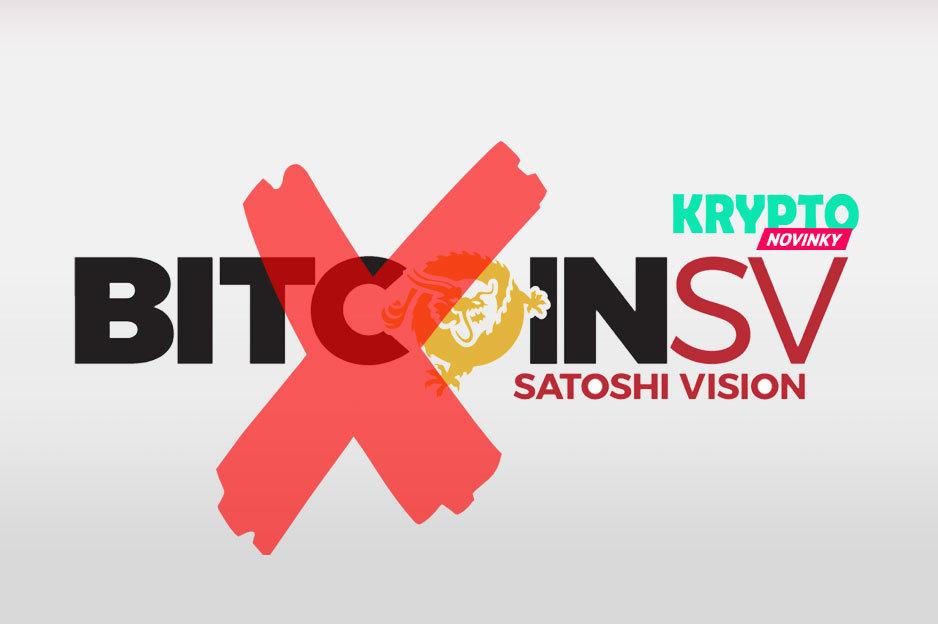 Bitcoin SV delistovanie