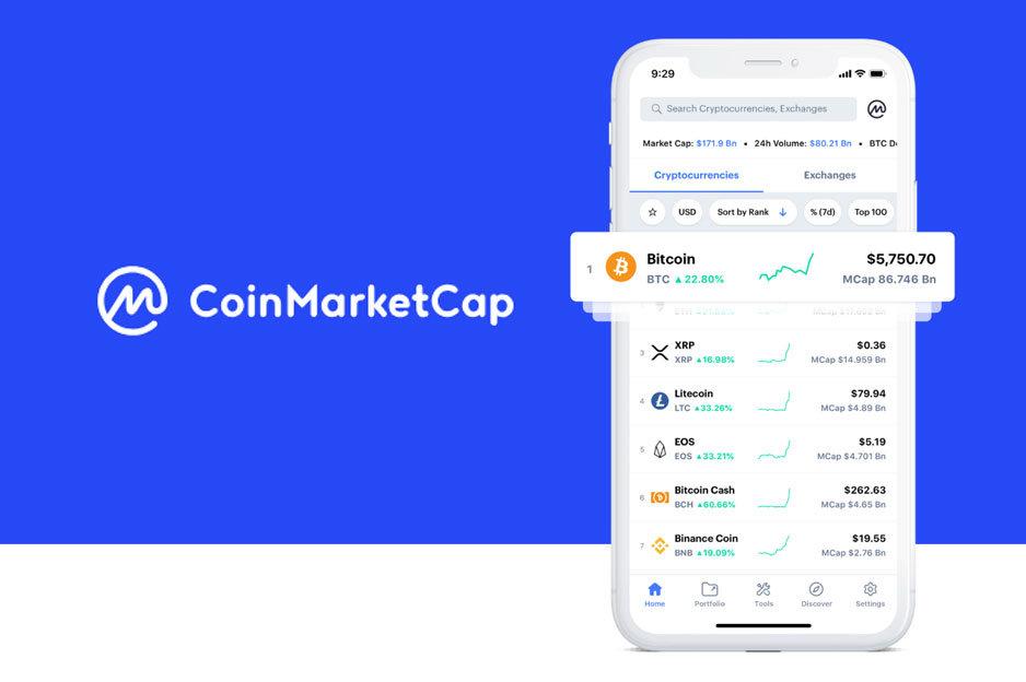 CoinMarketCap aplikácia