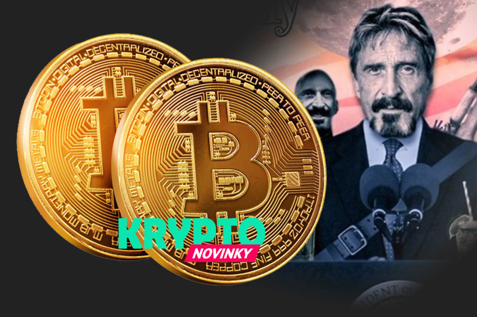 McAfee Bitcoin milión dolárov