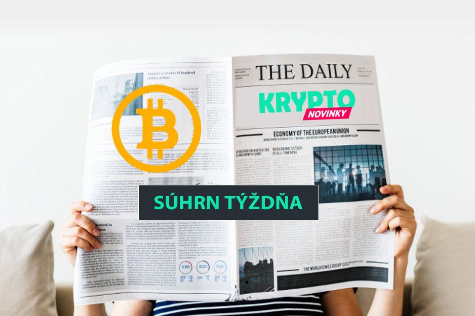 Súhrn týždňa Bitcoin kryptomeny